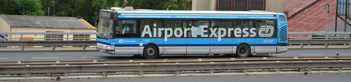photo of a airport bus